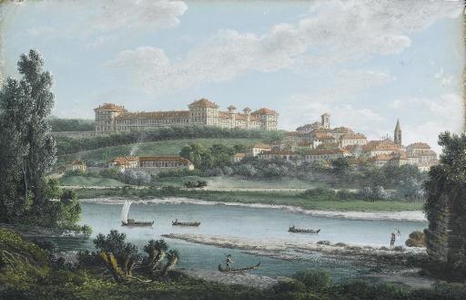 veduta del castello di moncalieri by italian school piedmont 19