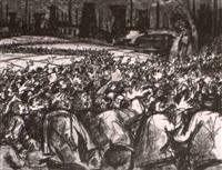 streikende bergarbeiter by hans tombrock