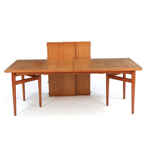 Conference Table Of Teak With Extension And Two Extra Leaves By Arne - Conference table with leaves