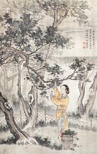 采桑图 by xu bangda
