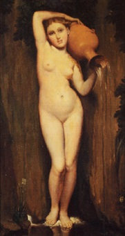 nude with water vessel by edmund wyly (sir) grier