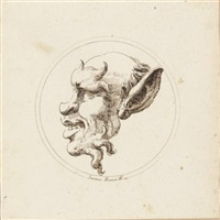 the head of a satyr in profile by gaetano piccini