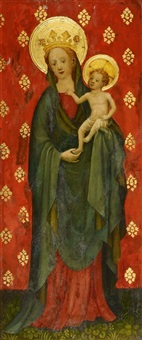 saint john the baptist the virgin with child by master of st. veronica