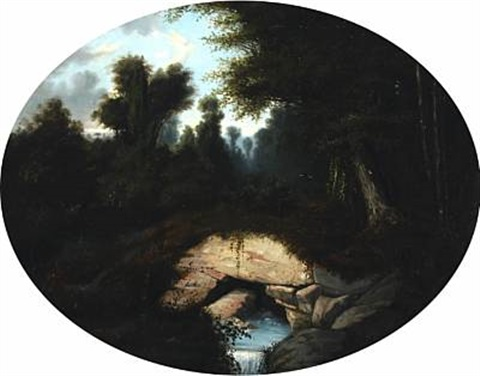 brook at fountainbleau by jules charles aviat