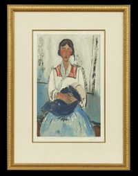 l'italienne (after amedeo modigliani) by jacques villon