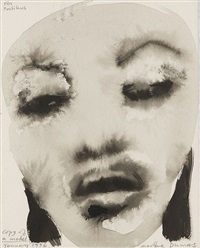copy of a model (naomi campbell) by marlene dumas