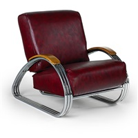 triple band lounge chair by k.e.m. weber