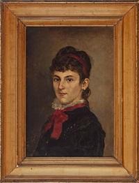 retrato femenino (luisa fiol?) by antonio fuster forteza