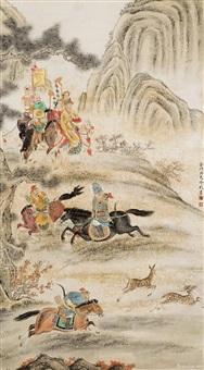 骑射逐鹿图 by leng mei