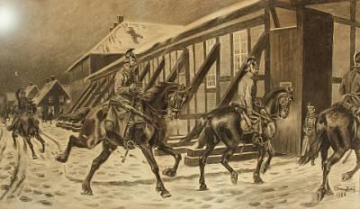 dragoons on their way to bivouac by karl frederik christian hansen reistrup