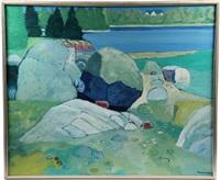 rocks, greenlaw cove by howard robert fussiner