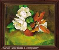 still life of magnolias by marie atkinson hull
