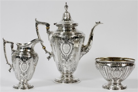 gorham maintenon sterling tea coffee set with tray 1919 seven pieces l 29