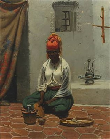 african woman making coffee by vasili fedorovich george wilhelm timm