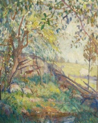 the pool in spring by lucien abrams