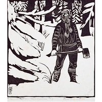 beauty of woodsmen (from song of the broad axe) by wharton h. esherick
