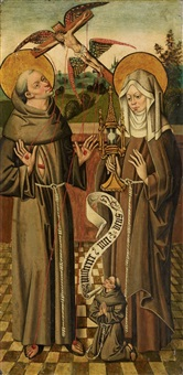 st. francis and st. clare by anonymous-german (15)