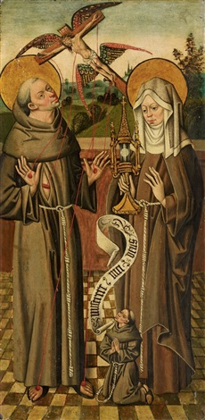 st francis and st clare by anonymous german 15