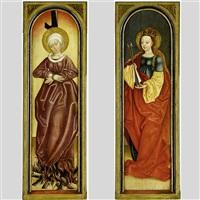 altarflügel mit den heiligen ursula (+ afra von augsburg; 2 works) by german school-swabian (15)