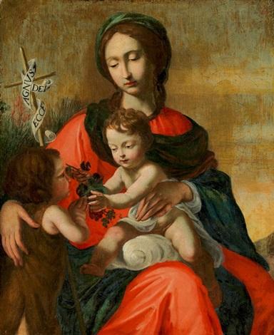 madonna mit jesusknabe und johannes dem täufer by cesare dandini