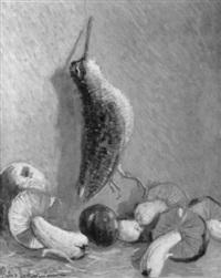 stilleben mit vogel und steinpilzen by piero todeschini
