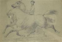 reiter mit zwei pferden by jacques-laurent agasse