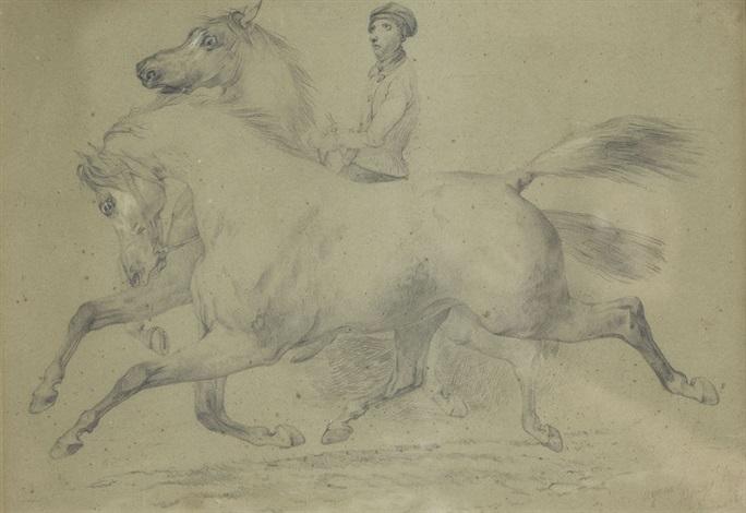 reiter mit zwei pferden by jacques laurent agasse