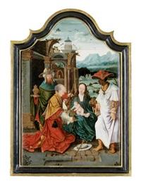 die anbetung der könige (bzw. der drei weisen aus dem morgenland) by joos van cleve and joachim patinir