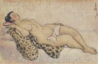 reclining nude by pan yuliang