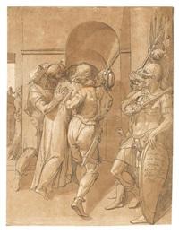 christus wird von pilatus weggeführt (after giovanni de bologna) by andrea andreani