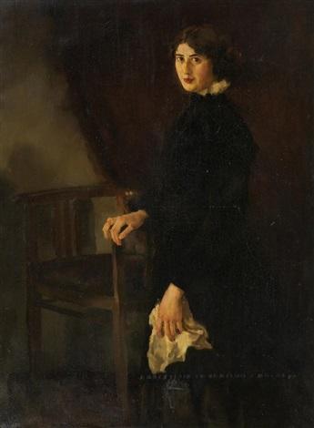 porträt einer jungen dame by adolf j jelinek alex