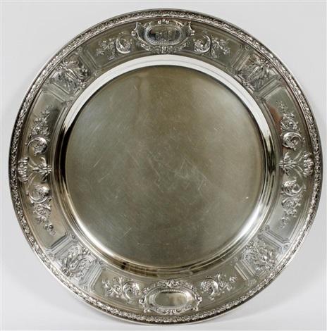 gorham maintenon sterling round tray 1925 dia 15