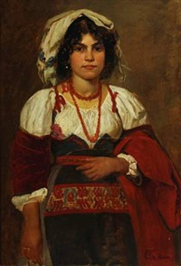 a young italian woman by hans christian koefoed