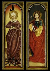 altarflügel mit den heiligen ursula (+ afra von augsburg; pair) by german school-swabian (15)