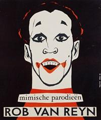 mimische parodieën / rob van reyn (poster) by keja wouter