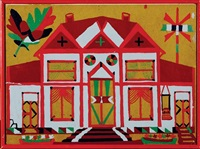 two works: our house and folk art quilt design by patsy billups