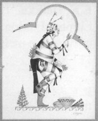 koshare kachina dancing by jose d. roybal