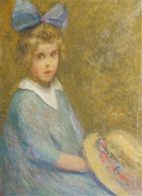 portrait of a girl (william merrit chase's daughter?) by jessie ansbacher