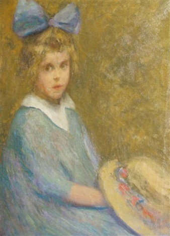 portrait of a girl william merrit chases daughter by jessie ansbacher