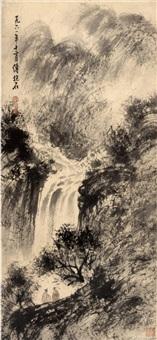 山水图 by fu baoshi