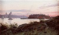 aftonstämning - utsikt från waldemarsudde, stockholm by julia charlotte mortana strömberg