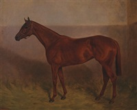 racehorse in a stable by arthur grenville haig
