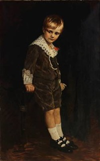 portrait of a boy in his sunday clothes by theodor lauxmann