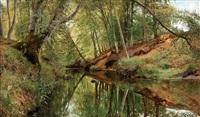 ån i saeby skov (the river in saeby skov) by peder mork monsted
