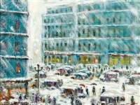 winter street scene by harriette bowdoin