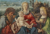 heilige familie by giovanni bellini