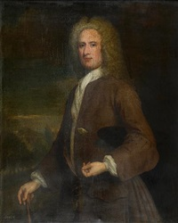 three-quarter length portrait of a gentleman, (john campbell?, 1st cashier of the royal bank of scotland) by william aikman