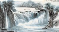 waterfall by liu zhenduo