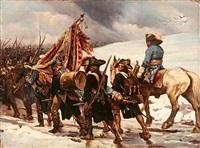 rückzug napoleonischer truppen by fr. smatek