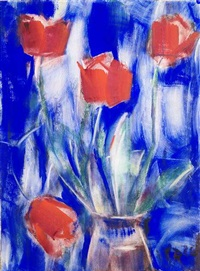 rote tulpen by christian rohlfs